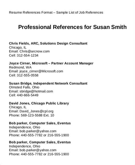 Resume References Format by 29 Resume Exles Pdf Doc Free Premium Templates