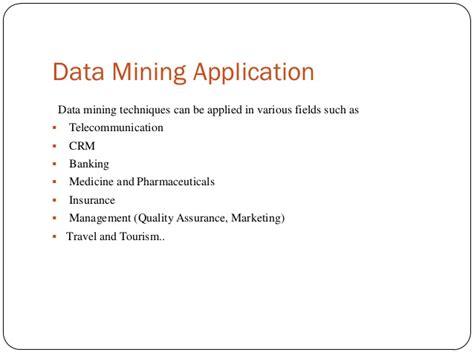 Application Of Data Mining In Finance data mining and its applications
