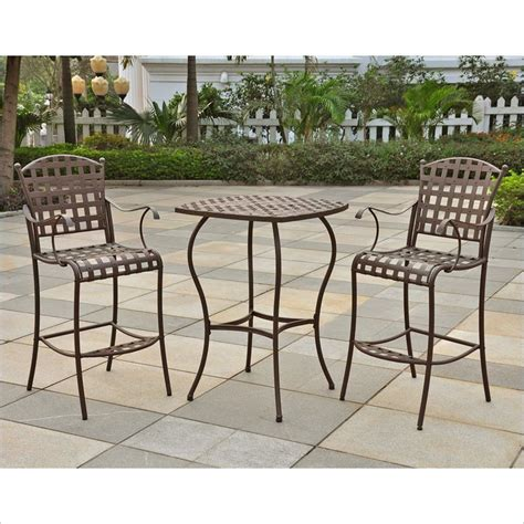 HomeOfficeDecoration   Outdoor bar height bistro sets