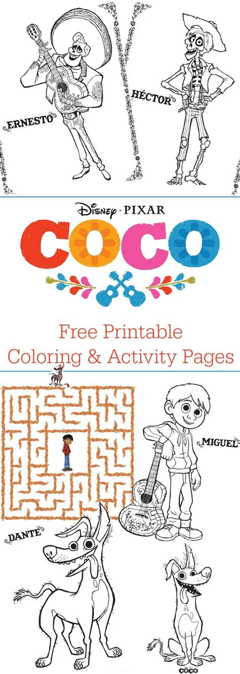coco coloring book disney pixar coco coloring pages for boys and books disney pixar coco coloring pages free printable mommadjane