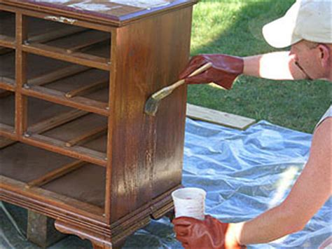 stripping woodwork refinishing furniture how to apply wood stain and