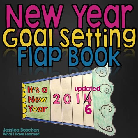 a new year book new year goal setting flap book craftivity