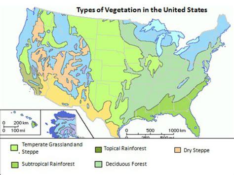 vegetation map of america vegetation map of united states kaitlyn s classes