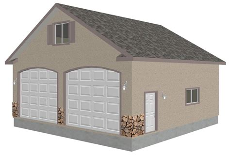 detached garage with bonus truss just download plans sds