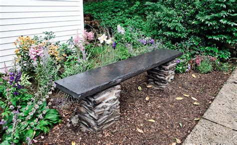 how to make a stone bench how to build a stone garden bench