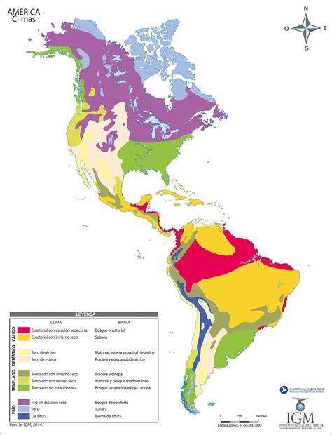 america mapa de climas resultado de imagen para mapa con los climas de america