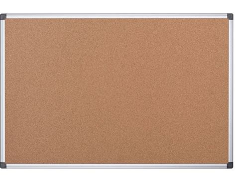 4 X 3 Cork Board With Aluminum Frame by Mastervision Ca051170 4 X 3 Cork Bulletin Board With