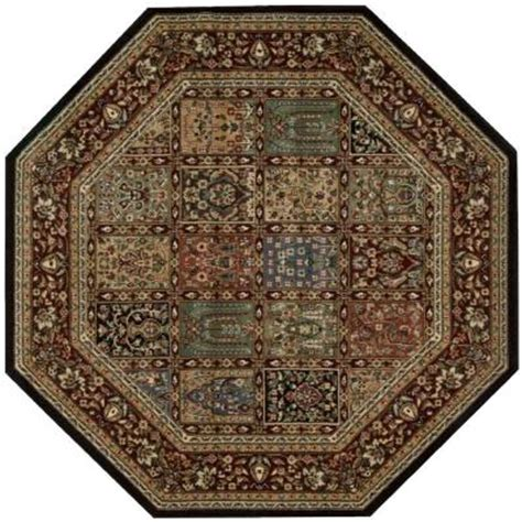 octagonal area rugs nourison arts multicolor 5 ft 3 in octagon area rug 694300 the home depot
