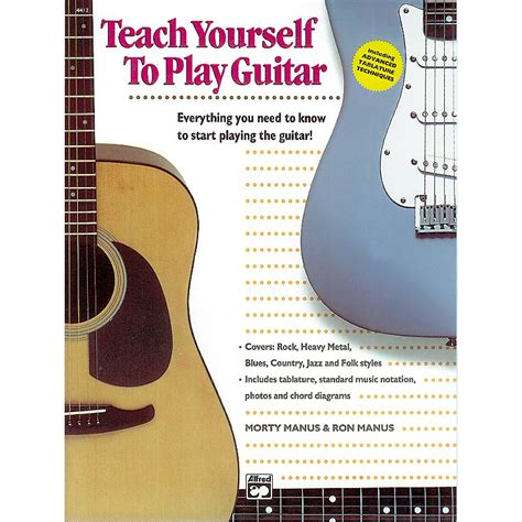 guitar book for beginners teach yourself how to play guitar songs guitar chords theory technique book lessons books alfred teach yourself to play the guitar book cd