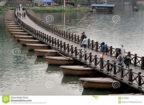 what is a pontoon bridge wutong china pontoon bridge editorial stock image image