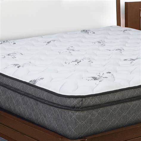 pillow top king bed pillow top king size mattress in white ole3 1060