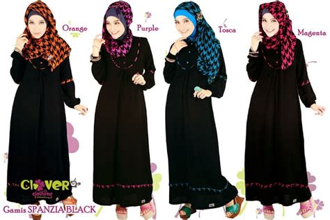 Gamis Katun Ekslusive Cantik Adem Murah muslimina fashion gamis clover clothing
