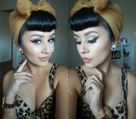 Pin Up Scarf Hairstyles by 21 Pin Up Hairstyles That Are Right Now Stayglam