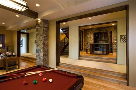 crest home design nyc talon s crest rustic basement other by phillips