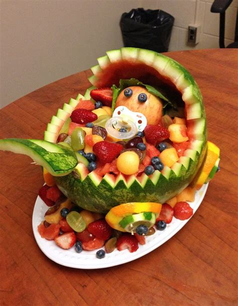 Baby Shower Fruit Watermelon by Baby Carriage Watermelon Fruit Bowl Favourite Part