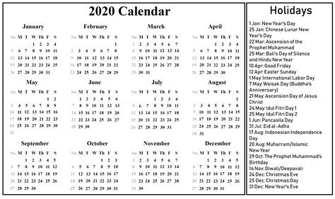 blank indonesia calendar   excel word printable april calendar template
