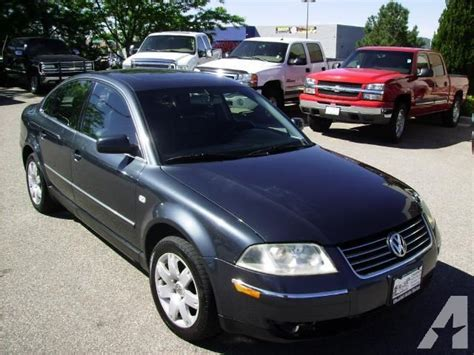 2001 volkswagen passat glx 2001 volkswagen passat glx v6 4motion for sale in