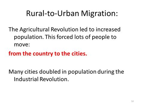 Thursday Three City Move To The Country by Industrial Revolution Ppt