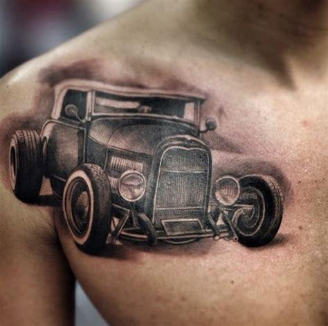 tattoo old school car tattoos von autos sind 40 fotos von t 228 towierungen in autos