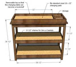 Handmade Furniture Plans - white build a simple changing table free and easy