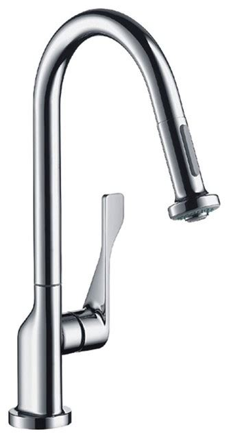 axor citterio kitchen faucet hansgrohe 39835801 axor citterio pull out spray kitchen