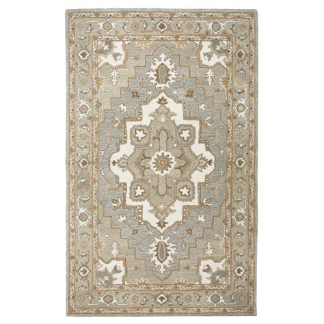 grey medallion rug rizzy home suffolk grey medallion 9 ft x 12 ft area rug sufsk323a33550912 the home depot