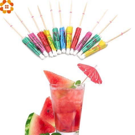 Cake Topper 50pcs 50pcs creative paper umbrella cake topper picks cocktail parasols drinks picks favors
