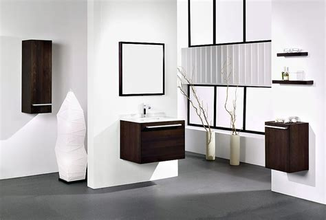Modern Bathroom Cabinet Designs Modern White Bathroom With Wooden Washbasin Cabinet Ideas