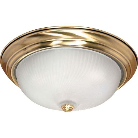 antique brass flush mount light glomar elektra 3 light antique brass flushmount hd 239