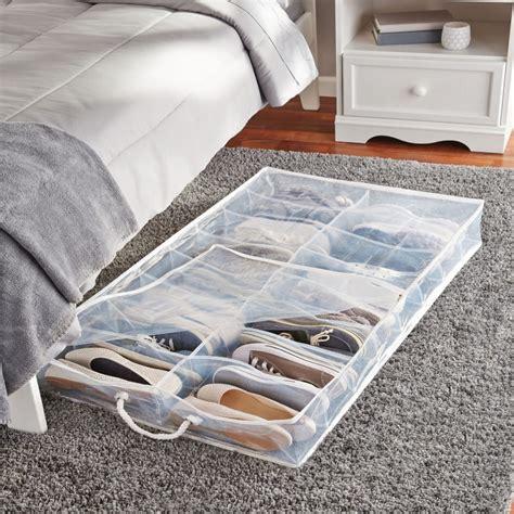 The Bed Shoe Organizer by Peva Underbed Shoe Organizer Space Saving Storage Bag