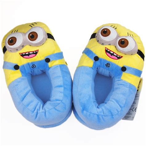 minion slippers adults 11 quot despicable me 2 minions 3d slippers plush stuffed