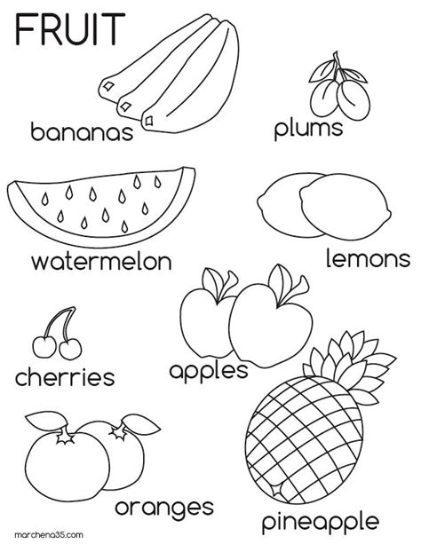 coloring pages fruits preschool fruit pictures for kids az coloring pages educational