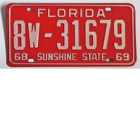 florida license plate 1968 sold on ruby