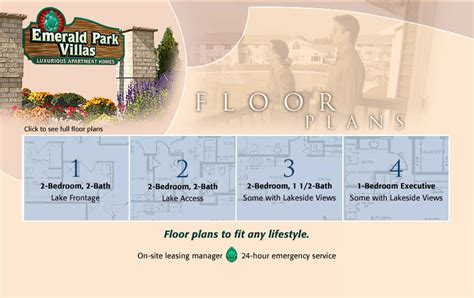 emerald park floor plan emerald park villas green bay apartments floor plans