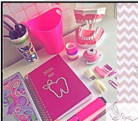Office Supplies Girly Home Accessory Pink Office Supplies Teeth Teeth