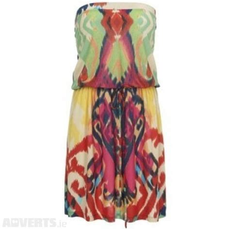 At981 Summer Tropical Kimono Cardie 2 warehouse tropical ikat bandeau dress multicoloured dresses strapless summer