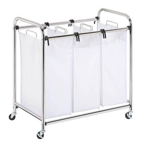 three section laundry sorter upc 811434012350 heavy duty 3 section sorter chrome