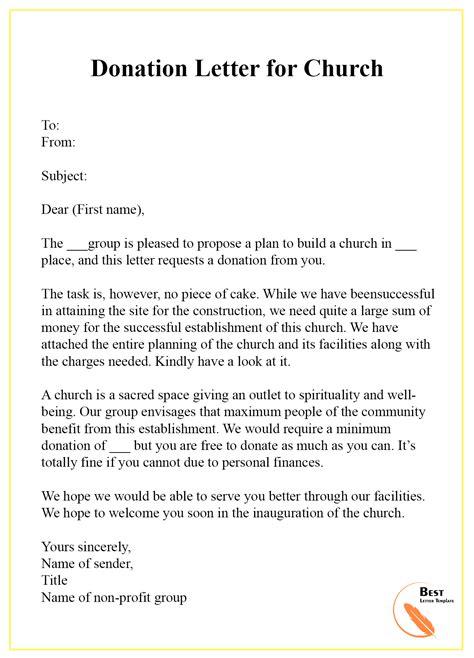 donation letter template format sample