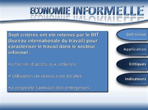 bit bureau international du travail economie informelle