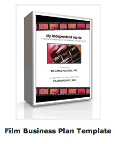 business plan template for film