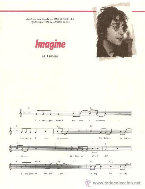 imagenes john lennon letra en ingles partitura de john lennon imagine con letra en comprar