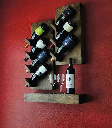 red wine rack custom floating wine rack