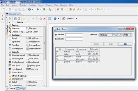 simple java swing gui exle java ide for swing stack overflow