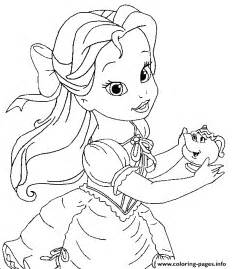 belle child disney princess 9e65 coloring pages printable