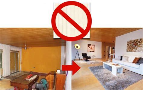 Dunkle Holzdecke Weiß Streichen by Wohnungs Einrichtung Mit Holz Decke