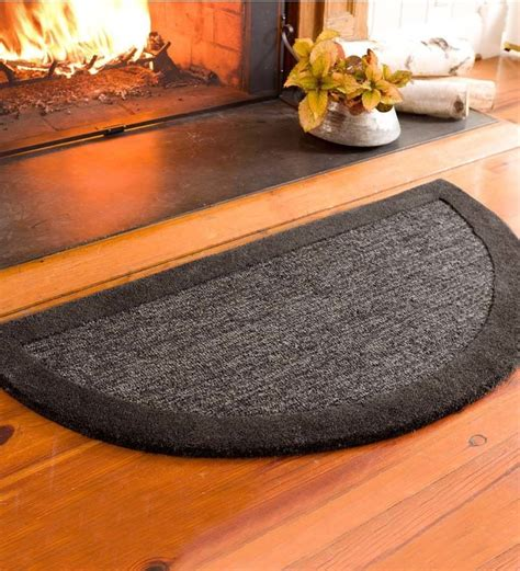 Hearth Rugs Fireproof by Plow Hearth Fireproof Rugs 2 X 4 Madrid Banded Half