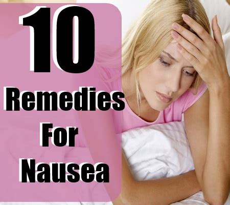 home remedies for nausea treatments cure for