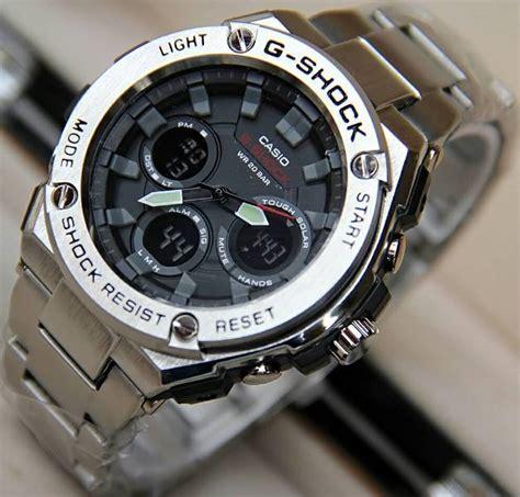 Jam Tangan Pria G Shock Gwa 100 Anti Air Black jual jam tangan g shock gst 100 steinless gshock tali rantai