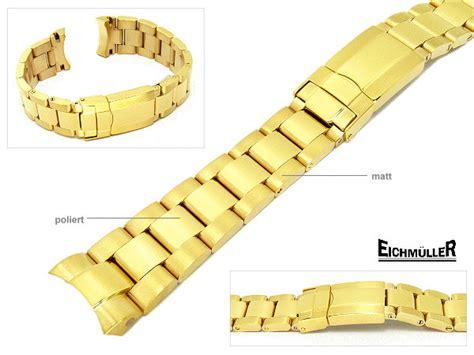 Rolex Band Polieren by Edelstahlband Eichm 252 Ller Vergoldet Passend F 252 R Rolex