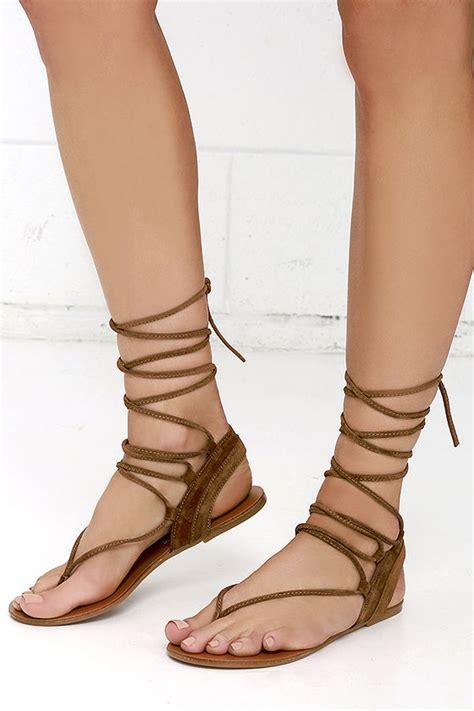 sandals that tie around your leg steve madden walkitt brown sandals leg wrap sandals